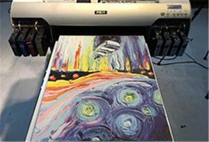 Canvas sýnishorn frá A2 UV prentara WER-EH4880UV